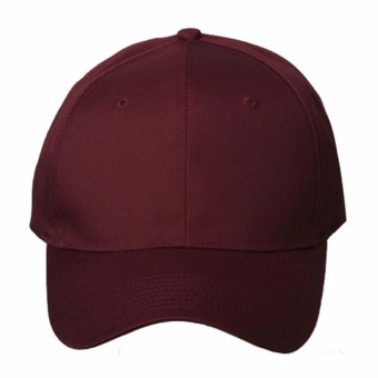 Baseball Cap Sports Golf Snapback Solid Hat For Men/Women Maroon