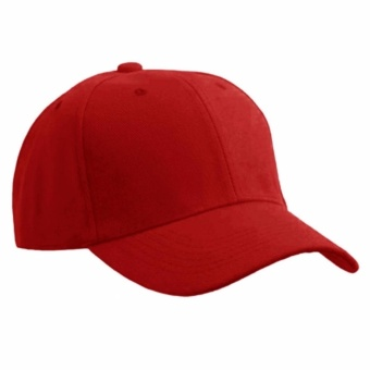 Baseball Cap Sports Golf Snapback Solid Hat For Men/Women Red