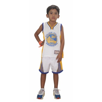 basketball jersey terno kids no.30 golden state white