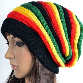 Beanies Men's Women's Hats Cap Rasta Winter Hats For Women Men Beanie Balaclava Skull Lady's Gorros Colorful Striped Price Philippines