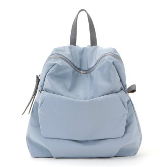 Beautiful Korean-style student women's bag New style backpack (Light blue)