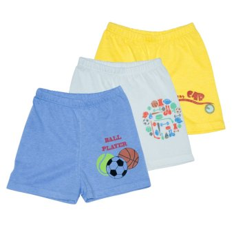 Bebe by SO-EN 3 in 1 Kids Shorts with Print (Blue/Asstd)