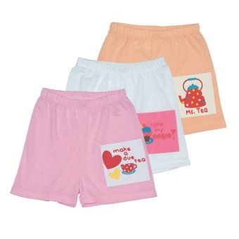 Bebe by SO-EN Kids 3 in 1 Shorts w/ Print (Pink/Asstd)