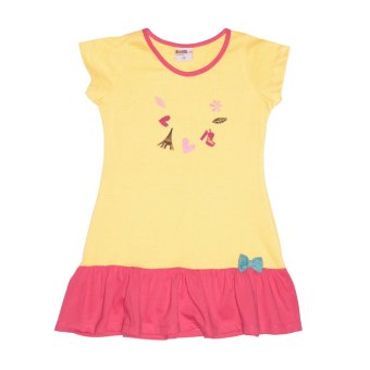 Bebe by SO-EN Kids Dress w/ Sleeves & Ribbon Retail (Lt. Gold)