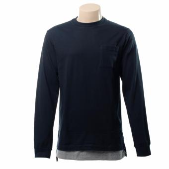 BENCH- BTL0579BU4 Basic Long Sleeve with Long Back Combination(Navy Blue)