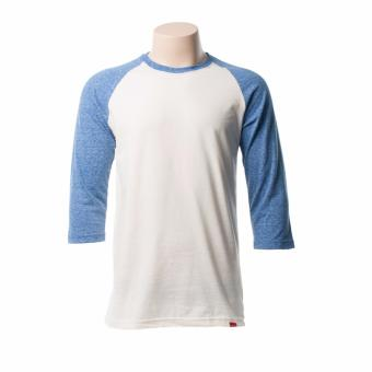 BENCH- BUO0010BV4 Roundneck 3/4 Sleeves (OFF WHITE BODY + SURF THEWEB SLEEVES)