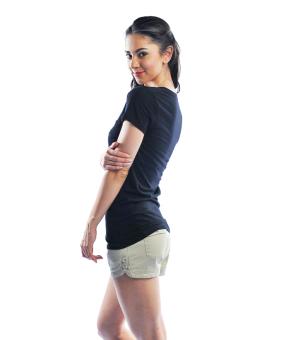 Bench V Neck Ladies Undershirt (Black) - 3