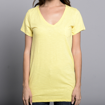 Bench V Neck Ladies Undershirt (Yellow) - 4