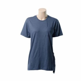 BENCH- YFS1183BU4 Ladies' Plain Tee with Long Back (Denim Blue)