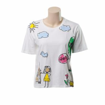 BENCH- YOW0529WH3 Ladies Graphic Tee (White)
