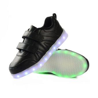 Bevoker 7 Color 11 Mode LED Light Up Shoes for Kids Boys - intl - 2