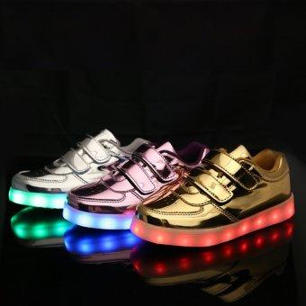 Bevoker USB Charging Lighted Colorful LED lights Children Shoes -intl - 4