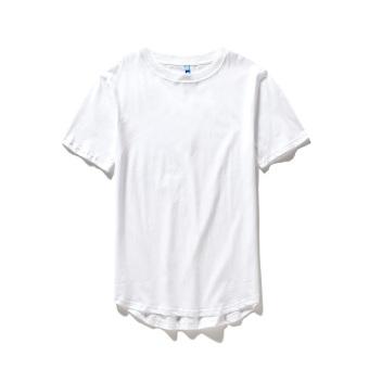 BF cotton men's short sleeve Feng Yuan arc base shirt T-shirt (Long Base T white)
