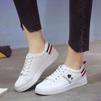 BIGCAT women flat shoes sports sneakers running shoes white - intl - 3