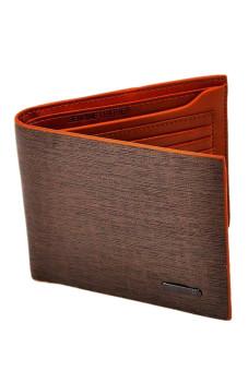 Billfold Leather Wallet (Brown)