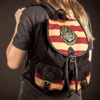Bioworld Harry Potter Hogwarts Scarlet & Gold Knapsack