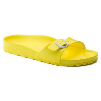 Birkenstock Madrid Essential EVA Narrow Fit Birko-Flor FlatSlippers (Neon Yellow)