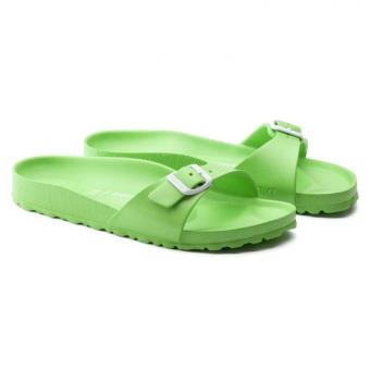 Birkenstock Madrid EVA Narrow Fit Birko-Flor Flat Slippers (NeonGreen)