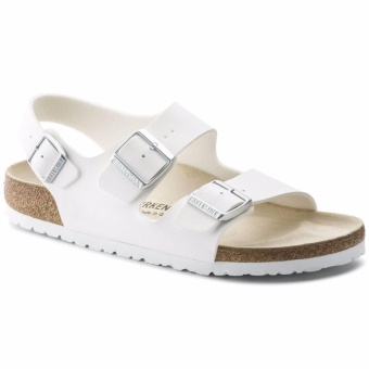 Birkenstock Milano Birko-Flor Flat Slippers (White) Price Philippines