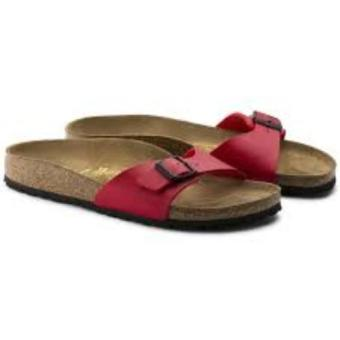 Birkenstock Women Madrid Birko-Flor Flat Slippers (Cherry)