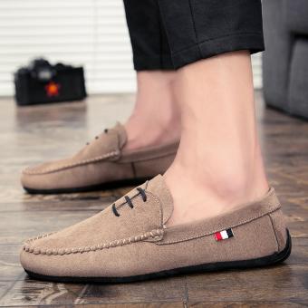 Black breathable Teenager moccosins men shoes (PARK'S color)