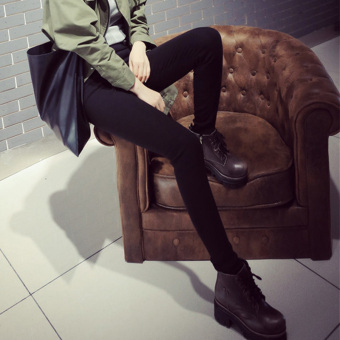 Black female outerwear summer ankle-length pants leggings (918 [No with holes models])