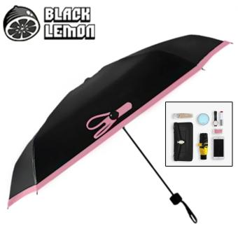 Black Lemon Nano Umbrella - Anti-UV Double Layer Five Fold SunnyUmbrella (Pink)