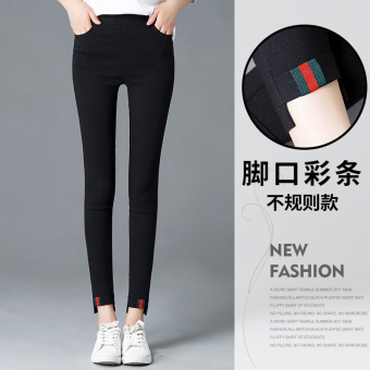 Black New style autumn and winter women leggings pencil pants (Foot Mouth color bar)