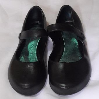 Black Shoes for Kids Water Proof  No need to shine size 35'