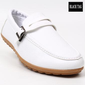 Black Tag Brynk 906 Casual Leather Shoes for Men (White)