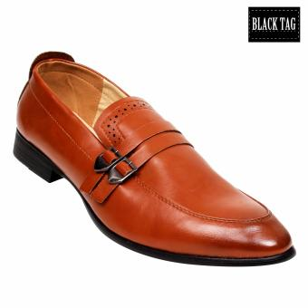 Black Tag Clark CA17730 Formal Leather Shoes for Men (Brown)