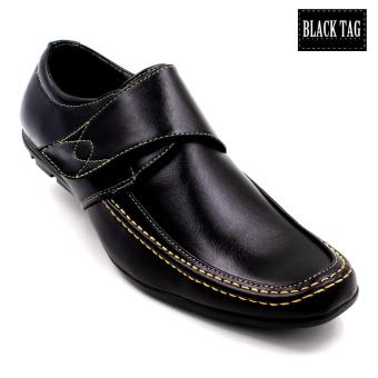 Black Tag Marcus Leather Black Shoes for Men (Black)