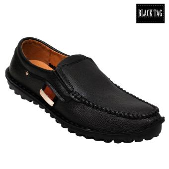 Black Tag Tommy 9228 Casual Leather Shoes for Men (Black)