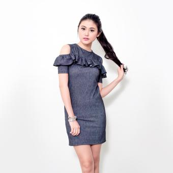 BLACKSHEEP Ruffled Bodycon Dress