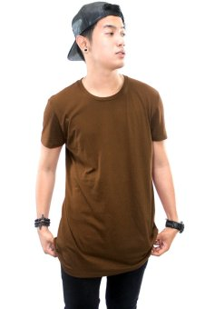 BLKSHP Oversized Softstyle Longline Tee (Solid Brown)