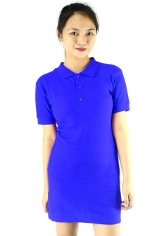 ... BLKSHP Polo Shirt Dress in Solid Royal Blue - 5