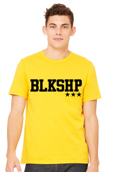 BLKSHP Printed Classic Fit Adult T-Shirt (Yellow Gold)