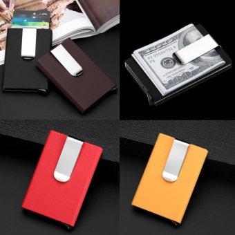 ... Bllevie RFID Wallet Money Clip Mens Leather Slim Blocking Credit Card ID Holder Black intl Philippines
