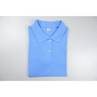 Blue Corner Women's Plain Polo Shirt (Light Blue)
