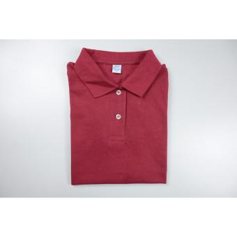 Blue Corner Women's Plain Polo Shirt (Maroon)