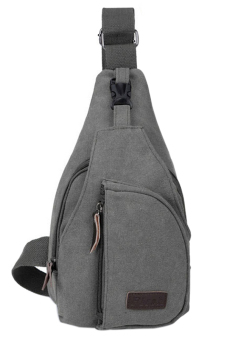 Blue lans Canvas Sling Shoulder Bag (Grey)