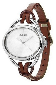 Blue Lans Women's Brown Leather Watch