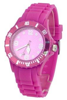 Blue lans Women's Purple Silicon Strap Watch