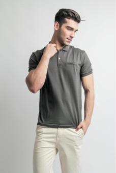 Blued Hampton (MH-57) Mens Polo-Charcoal (Gray) Price Philippines