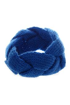 Bluelans Crochet Twist Knitted Headband (Blue)