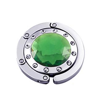 Bluelans Crystal Folding Handbag Hook (Green)
