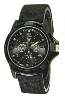 BlueLans Military Nylon Band Sports Wrist Watch Black