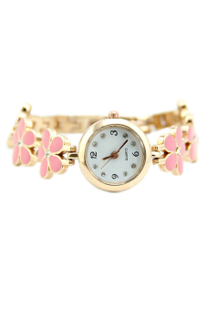 BlueLans Rose Gold Daisies Flower Wrist Watch (Pink) - picture 2