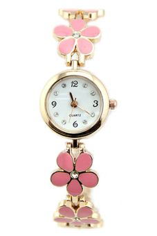 BlueLans Rose Gold Daisies Flower Wrist Watch (Pink)