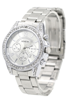 Bluelans Women's Silver Stainless Steel Band Watch - picture 2
